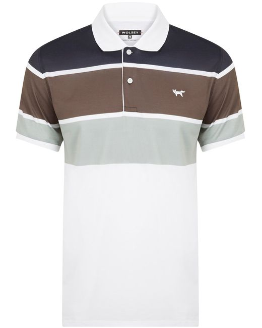 Wolsey | Black Three Colour Stripe Polo for Men | Lyst