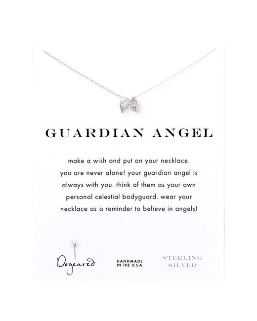 Dogeared | Metallic Sterling Silver Guardian Angel Wings Reminder Necklace | Lyst