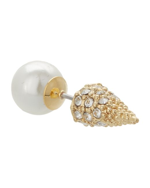 Sam Edelman   White Pearly Punk Pearl Pave Stud Earrings   Lyst