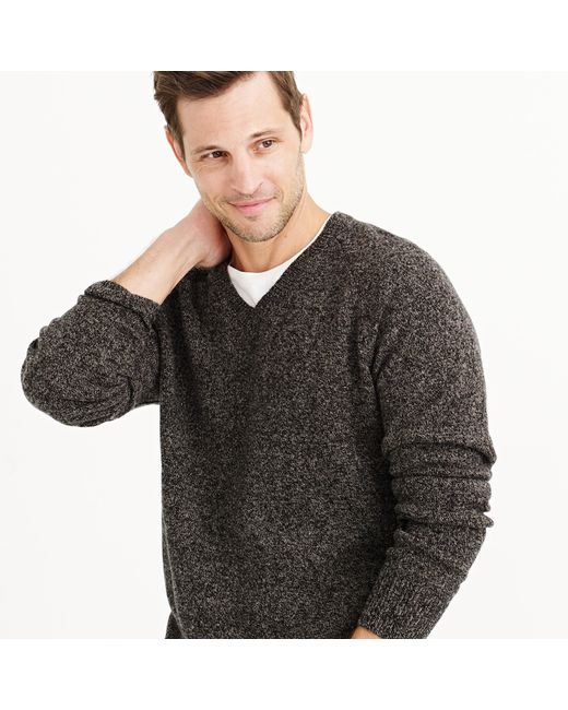 J.Crew | Gray Tall Marled Lambswool V-neck Sweater for Men | Lyst