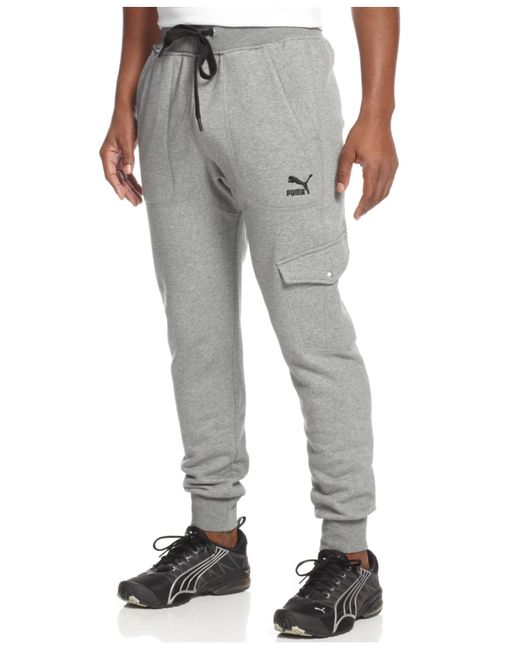 Puma Men S Cargo Joggers In Gray For Men Medium Grey