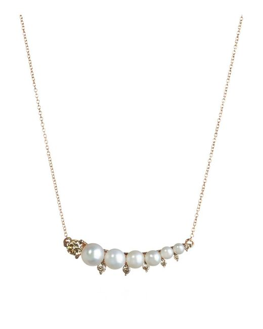 Annoushka | Pink Small Diamonds And Pearls Necklace | Lyst