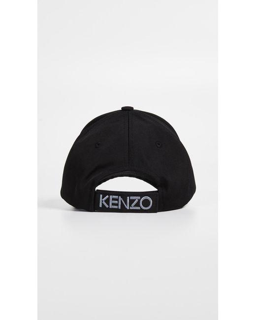 84398f2a4ad ... KENZO - Black Cap for Men - Lyst ...