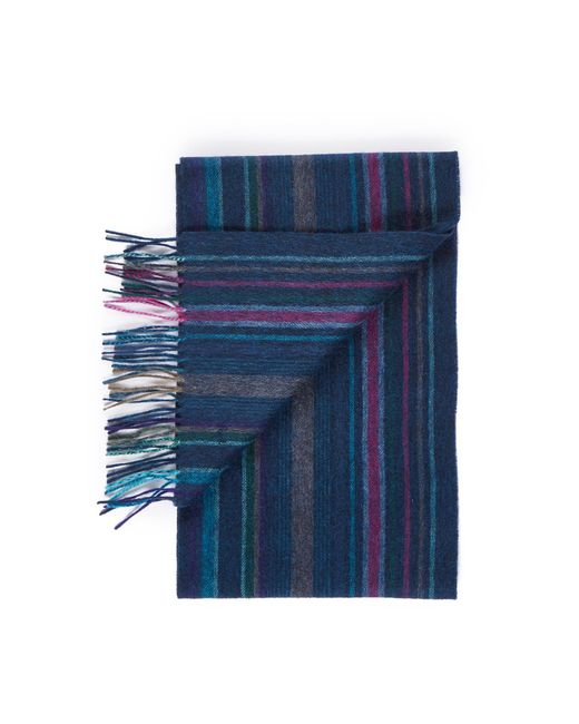 Paul Smith | Blue College Wool Scarf for Men | Lyst