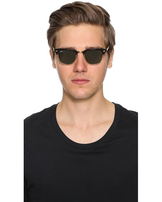 433273d0f9d Lyst - Ray-Ban Clubmaster Classic Sunglasses in Black for Men - Save 15%