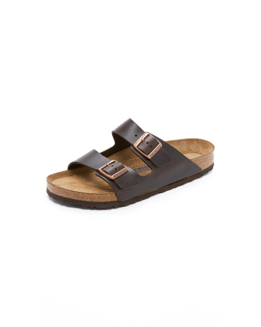 Birkenstock - Black Soft Arizona Amalfi Leather Sandals for Men - Lyst