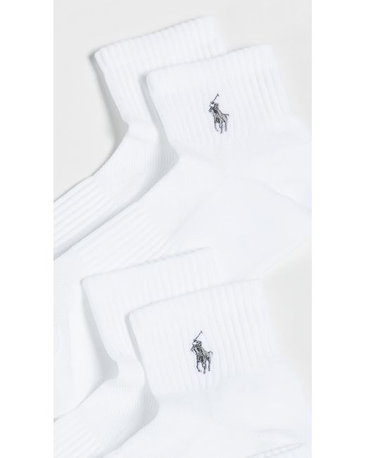 Polo Athletic Pack For Socks Quarter Ralph Lauren White Tech In 3 qjc4L5A3R