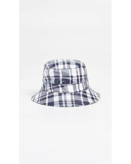 1368488b6 Lyst - Maison Kitsuné Coated Large Check Bucket Hat in Blue for Men