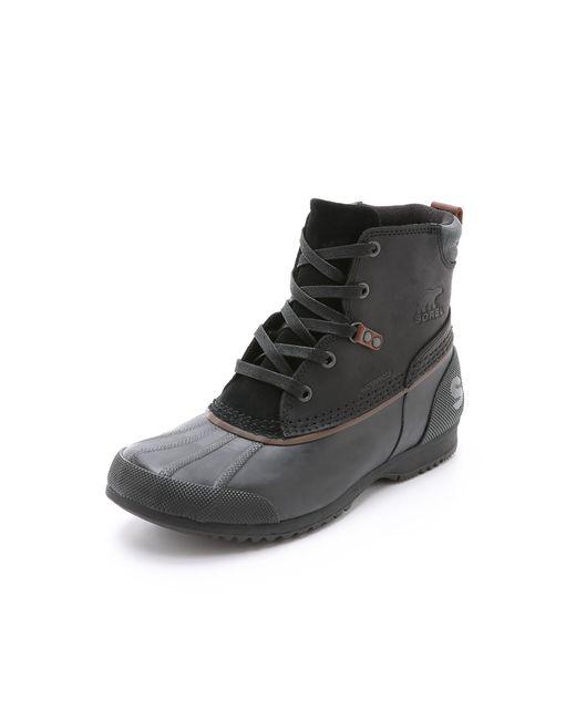 Sorel | Black Ankeny Boots for Men | Lyst