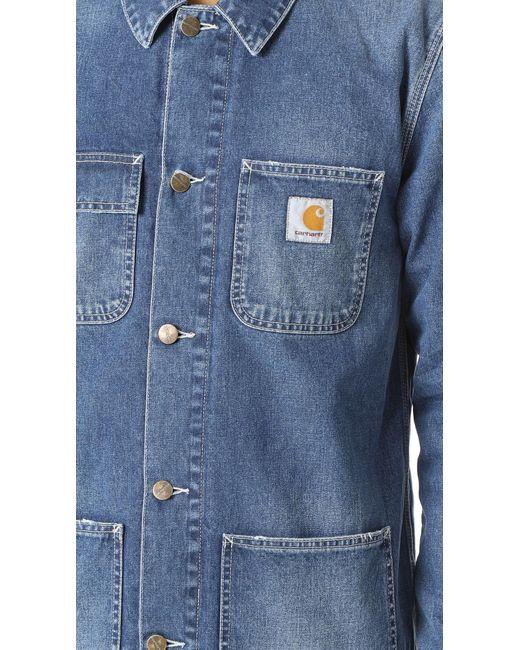 Carhartt Wip Denim Michigan Chore Coat In Blue For Men Lyst