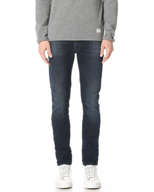 Nudie Jeans | Blue Thin Finn Crispy Crinkles Jeans for Men | Lyst