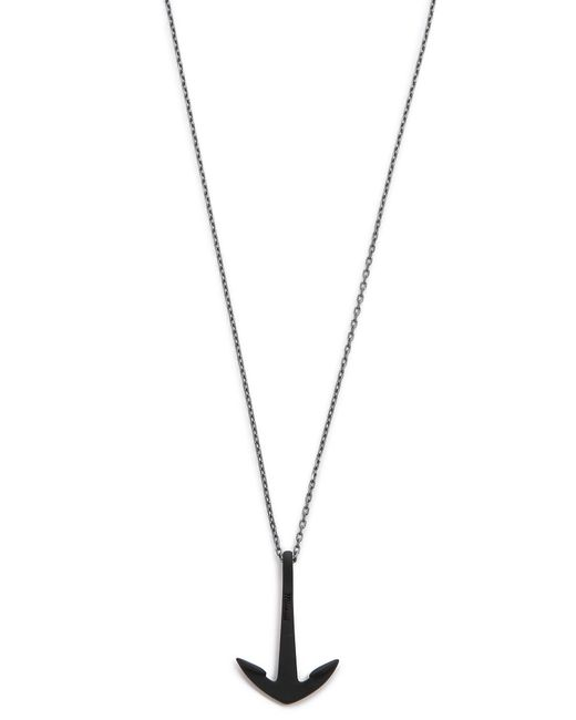 Miansai | Metallic Anchor Necklace Noir for Men | Lyst