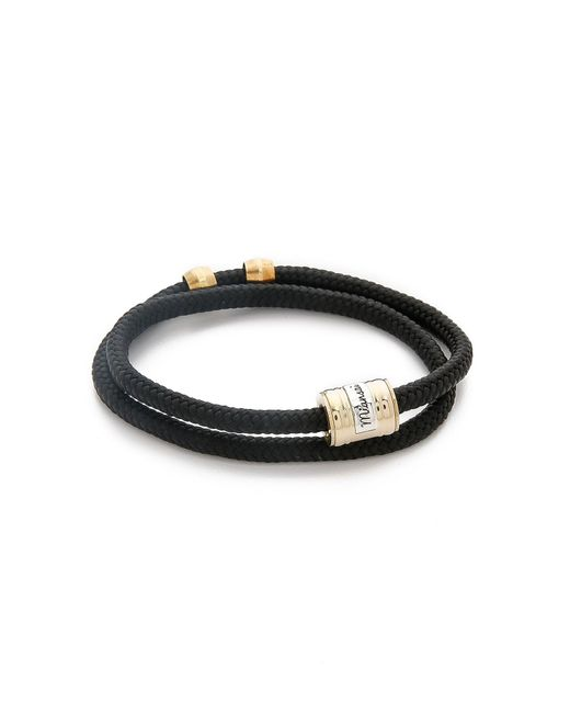 Miansai | Black Casing Rope Wrap Bracelet for Men | Lyst