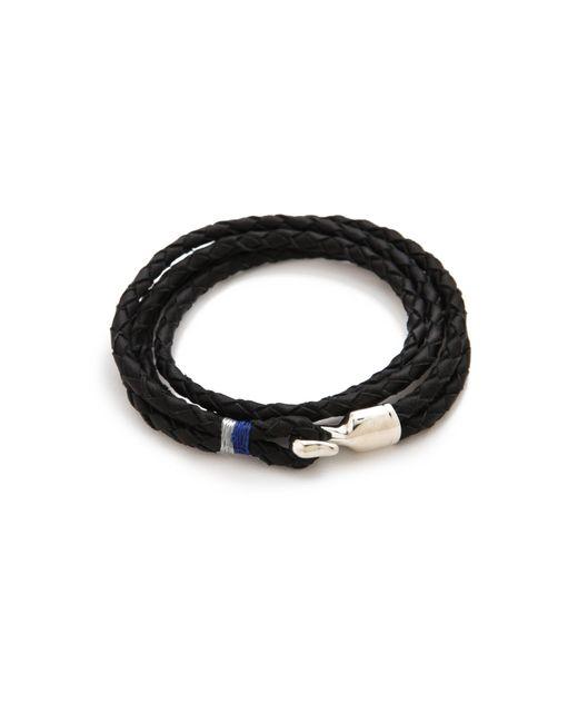 Miansai | Black Trice Woven Leather Wrap Bracelet for Men | Lyst
