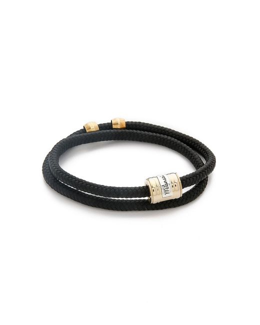 Miansai - Black Casing Rope Wrap Bracelet for Men - Lyst