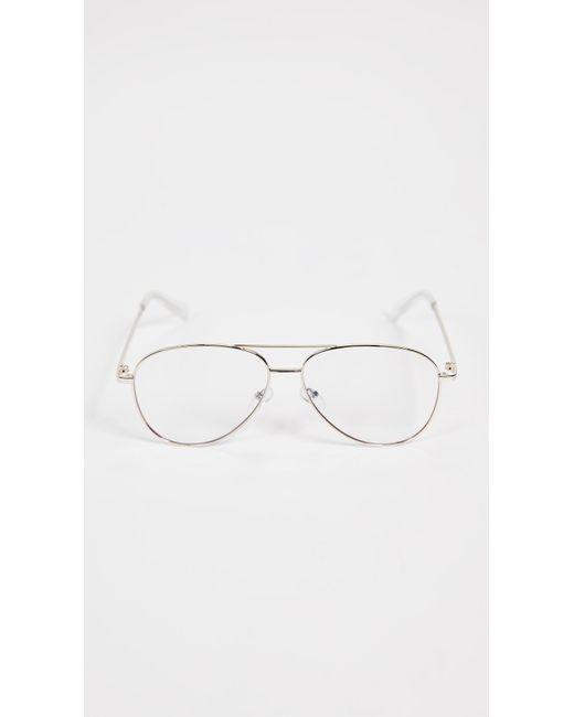 4e7df2928a Quay - Metallic Still Standing Blue Light Blocker Glasses for Men - Lyst ...