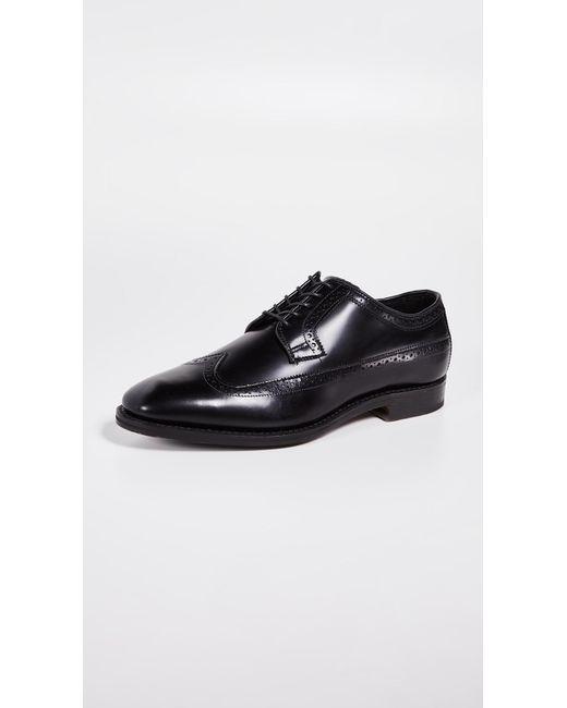 37072f092ef Allen Edmonds - Black Greene Street Brogue Shoes for Men - Lyst ...