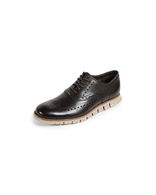 Cole Haan - Black Zerogrand Wingtip Oxford Shoes for Men - Lyst