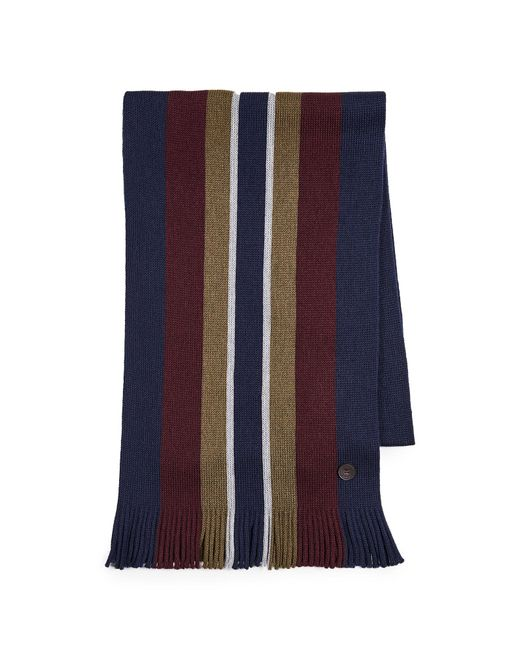 40e42f7cb065 ... Ted Baker - Blue Keverne Striped Scarf for Men - Lyst