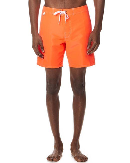 """Sundek - Orange 17"""" Classic Board Shorts for Men - Lyst"""