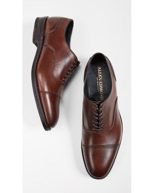 559c9573f2e ... Allen Edmonds - Brown Bond Street Cap Toe Shoes for Men - Lyst ...
