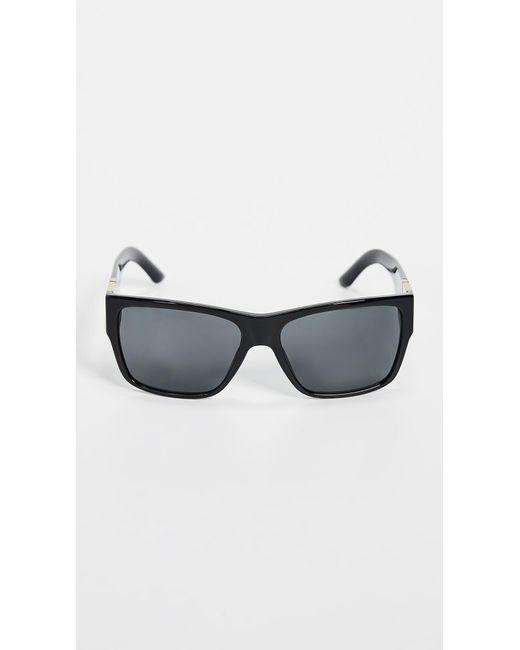 071b0a2dfe Versace - Black Square Sunglasses for Men - Lyst ...