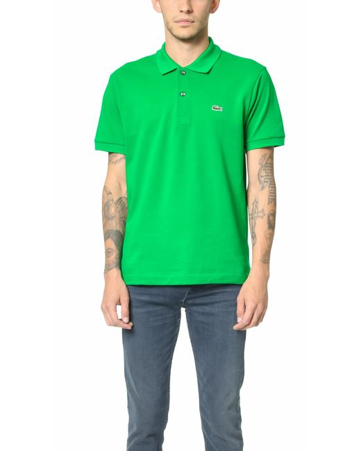 Lacoste   Green Short Sleeve Classic Polo Shirt for Men   Lyst
