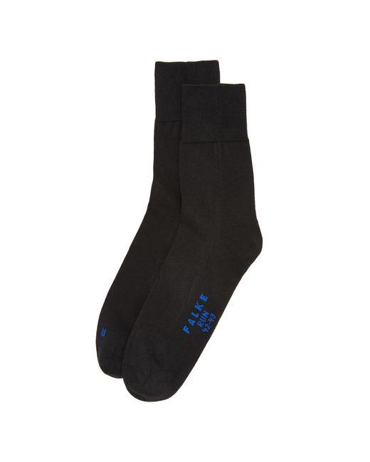 Falke - Black Run Cotton Blend Socks for Men - Lyst