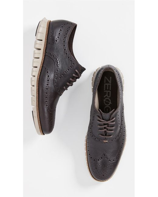 Cole Haan - Black Zerogrand Wingtip Oxford Shoes for Men - Lyst