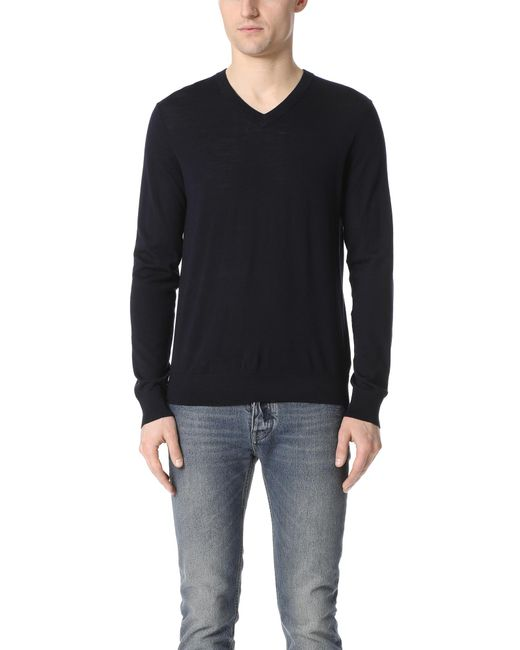 Theory | Black Sovereign Riland V Neck Sweater for Men | Lyst