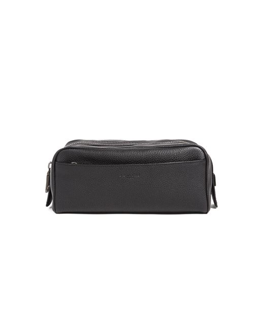 COACH - Black Dopp Kit In Pebbled Leather for Men - Lyst