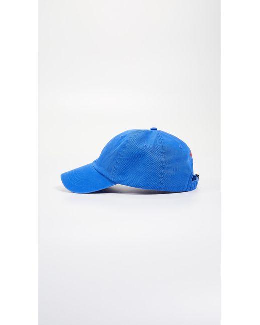aa6d5cc5469b02 ... Polo Ralph Lauren - Blue Classic Pony Cap for Men - Lyst ...