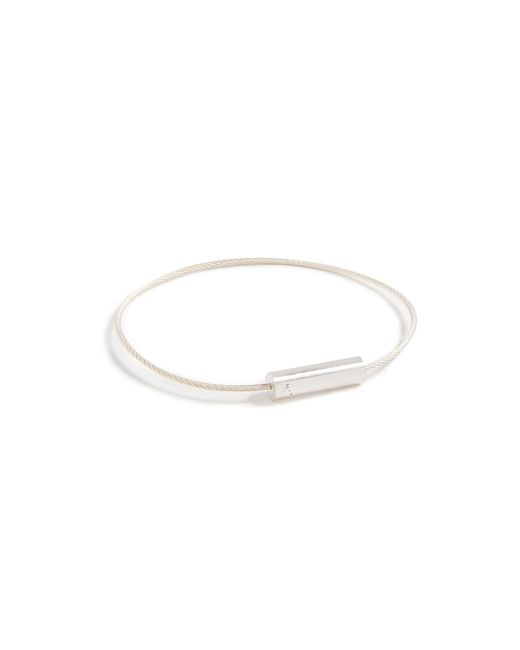 Le Gramme - Metallic 5 Grammes Brushed Cable Bracelet for Men - Lyst