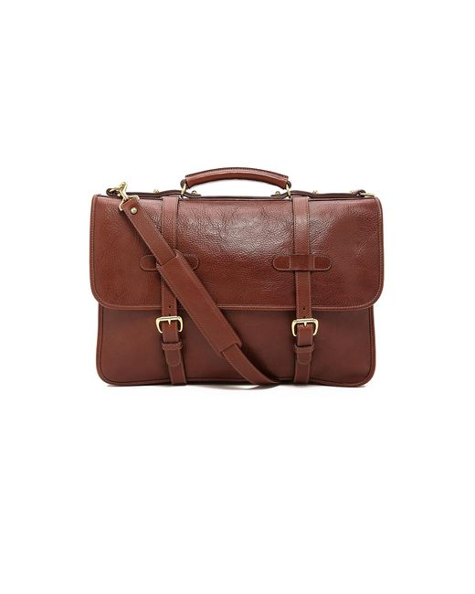Lotuff Leather - Brown Bound-edge English Briefcase for Men - Lyst