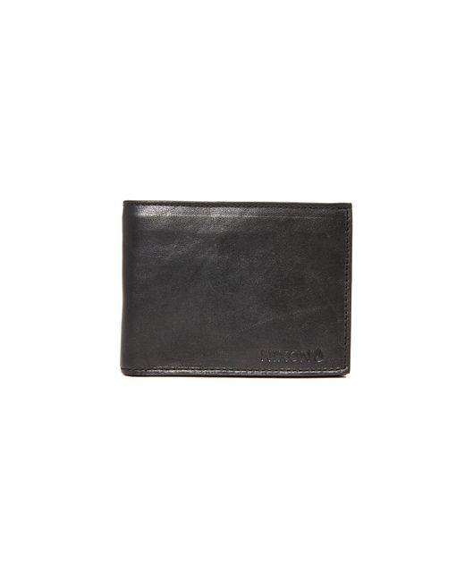 Nixon - Black Legacy Leather Wallet for Men - Lyst