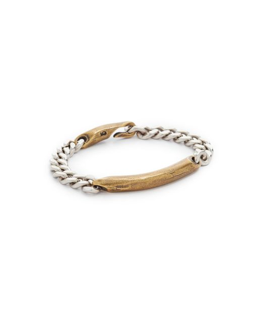 Giles & Brother | Metallic Id Chain Bracelet for Men | Lyst
