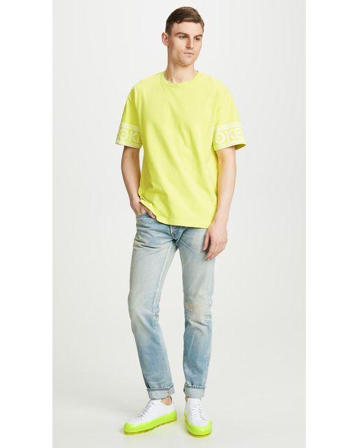 610ad65cc KENZO - Yellow Sport T-shirt for Men - Lyst ...