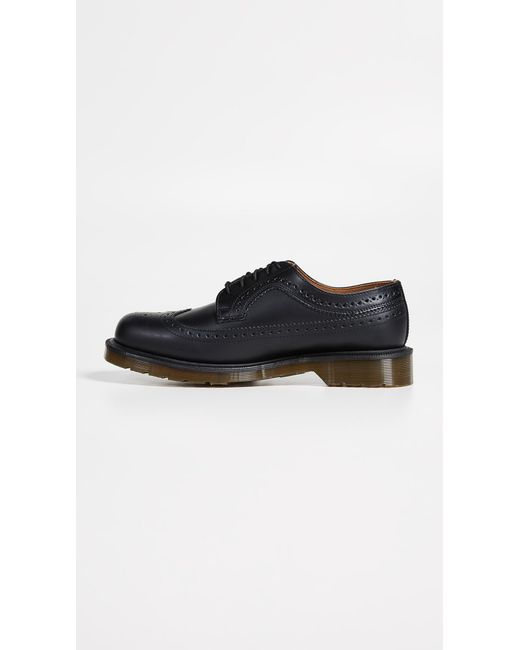 f831354fc1 ... Dr. Martens - Black 3989 Brogue Lace Up Shoes for Men - Lyst ...