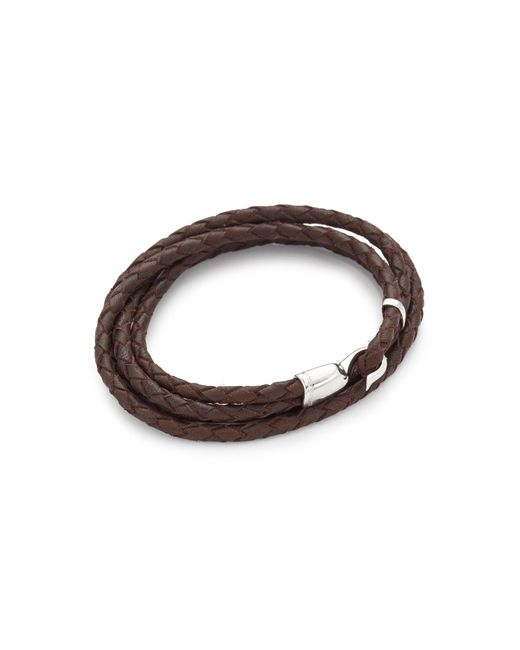 Miansai - Brown Trice Woven Leather Wrap Bracelet for Men - Lyst