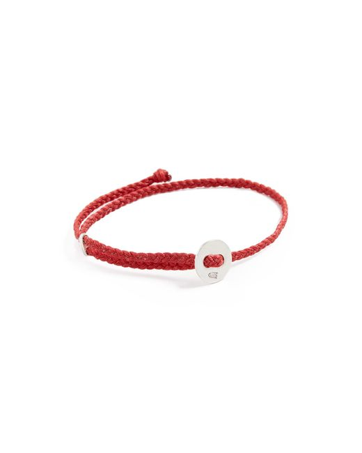 Scosha Red Signature Slider Bracelet For Men Lyst