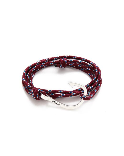 Miansai - Metallic Hooked Rope Wrap Bracelet for Men - Lyst