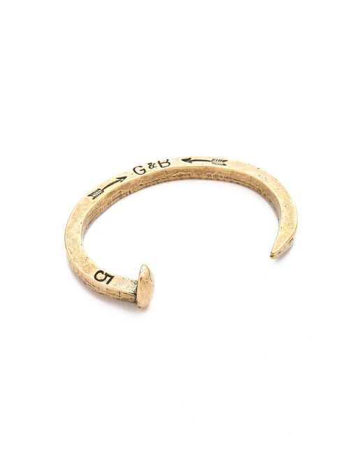 Giles & Brother | Metallic Railroad Spike Cuff for Men | Lyst