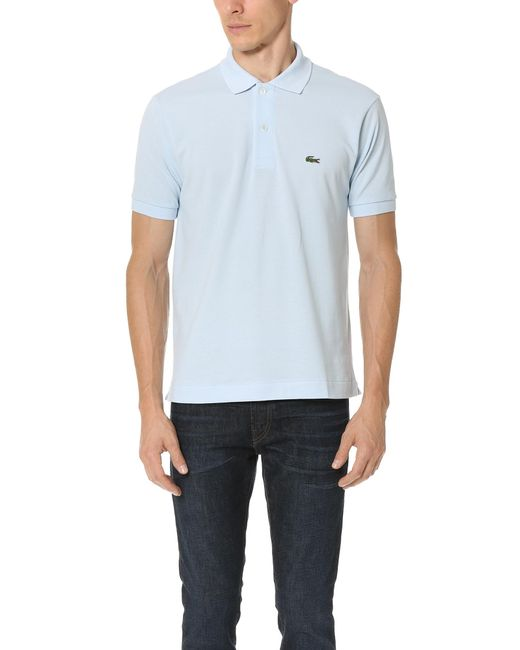 Lacoste   Blue Short Sleeve Classic Polo Shirt for Men   Lyst