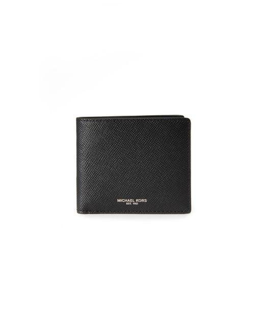 1e3fd6b708ad1 Michael Kors - Black Harrison Leather Billfold for Men - Lyst ...