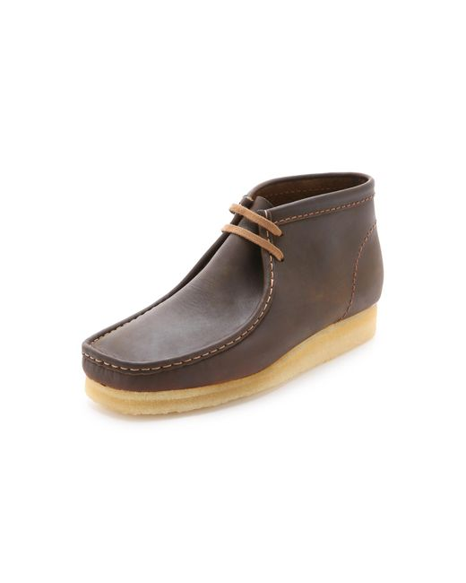 Clarks - Brown Wallabee Leather Chukka Boots for Men - Lyst