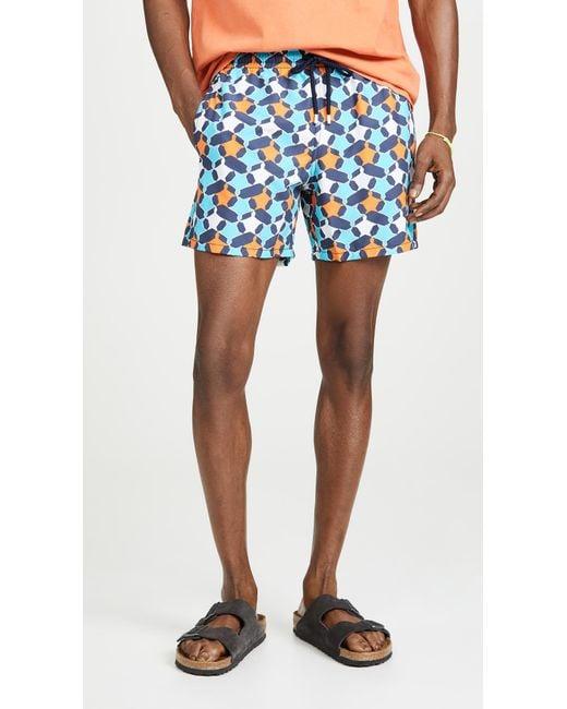 866295620d Vilebrequin - Blue Turtle Stars Moorea Swim Trunks for Men - Lyst ...