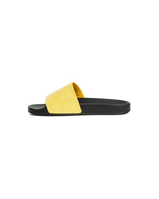 7d4b3e422d63a Adidas By Raf Simons - Black Adilette Checkerboard Slides for Men - Lyst ...