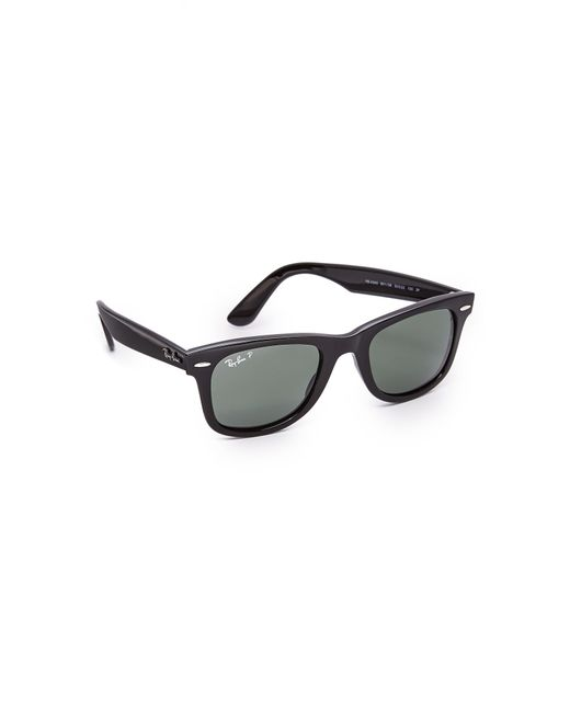 8f832ee58dc7c Ray-Ban - Black Polarized Wayfarer Sunglasses for Men - Lyst ...