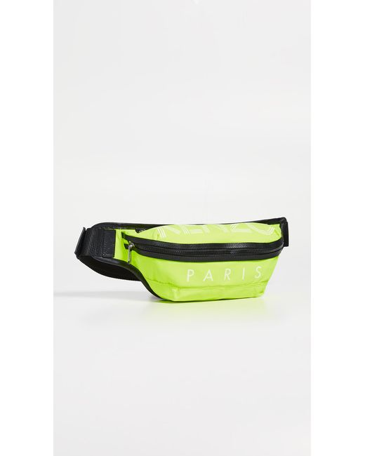35812b5961 KENZO - Yellow Sport Logo Bumbag for Men - Lyst ...