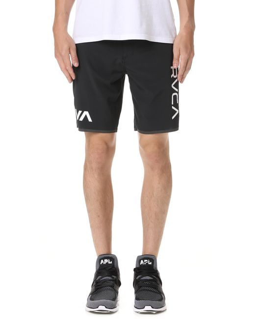 RVCA - Black Staff Iii Dual Layer Shorts for Men - Lyst